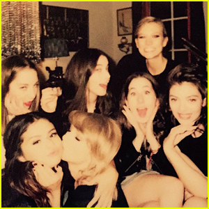 Lorde, Taylor Swift, Karlie Kloss, & More Surround Selena Gomez with Love!