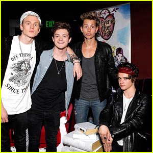 The Vamps Rock Out with Special Performance at Just Jared's Homecoming Dance Presented by Ever After High!