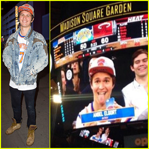 Ansel Elgort Considers Himself the 'Luckiest Guy in the World' at NY Knicks Game - Find Out Why!