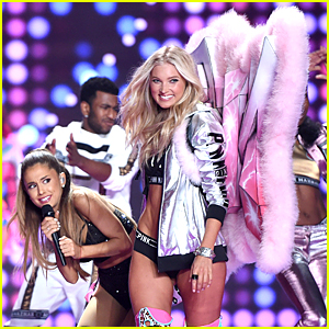 Victoria's Secret Fashion Show 2015 Ariana Grande Ariana Grande is smacked by