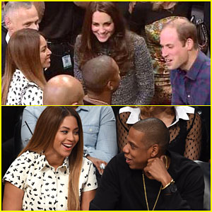 Beyonce & Jay Z Meet Kate Middleton & Prince William at the Nets Game
