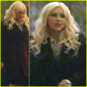 Christina Aguilera Gets in the Holiday Spirit Surrounded By Celebs!