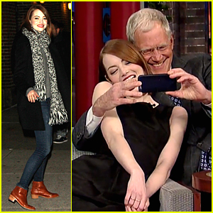 Emma Stone & David Letterman Take Adorable Selfies Together - Watch Now!