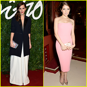 Emma Watson & Anna Kendrick Bring Their Style Game to the British Fashion Awards 2014!