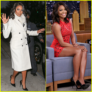 Gabrielle Union Promotes 'Top Five' on 'The Tonight Show' After Videobombing Hubby Dwyane Wade!