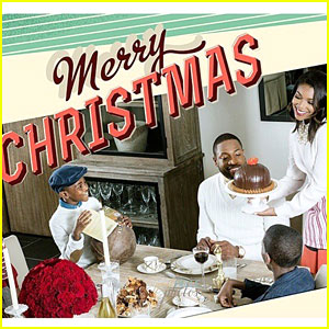 Gabrielle Union is a Doting Houswife in the Wade Family Christmas Card