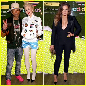 Gwen Stefani & Khloe Kardashian Help Pharrell Williams Celebrate His New Adidas Sneaker Collaboration!