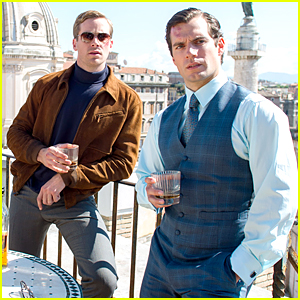 Henry Cavill & Armie Hammer Enjoy a Drink Together in First 'Man From U.N.C.L.E' Still