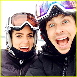 Ian Somerhalder & Nikki Reed Spend Christmas in the Snow!