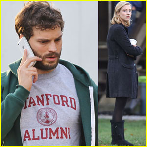 Jamie Dornan is Sexy & Scruffy Filming 'The 9th Life Of Louis Drax'