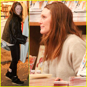 Julianne Moore Promotes Her New Book as 'Mockingjay' Continues to Dominate Box Office