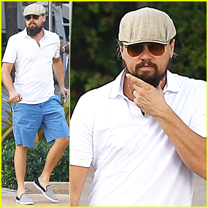 Leonardo DiCaprio Can't Stop Stroking His Bushy Beard in Miami