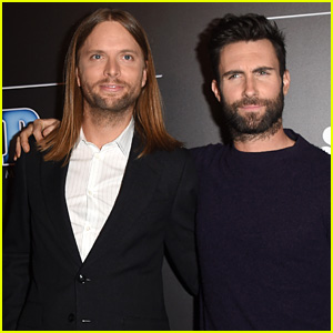 Adam Levine Makes His Entrance at People Mag Awards 2014