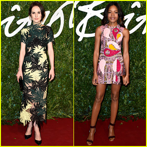 Michelle Dockery & Naomie Harris Are Beautiful Ladies at the British Fashion Awards!
