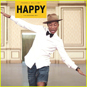 Pharrell Williams' 'Happy' Is the Most Popular Song of 2014 on Both Facebook & Billboard!
