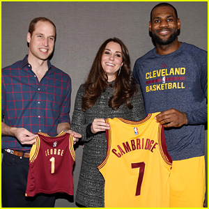 Prince William & Kate Middleton Meet 'King' LeBron James, Receive Cavaliers Jerseys as Gifts!