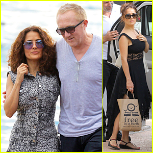 Salma Hayek & Francois Henri Pinault Spend Holidays in St. Barts