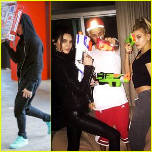 Justin Bieber Playfully Calls Kendall Jenner a Fool After a Nerf War