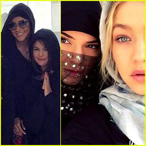 Selena Gomez & Kendall Jenner's Dubai Group Visit a Mosque