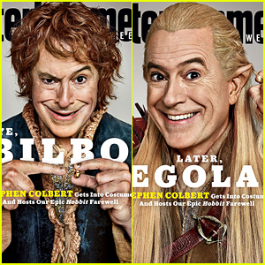 Super Fan Stephen Colbert Dresses Up as 'The Hobbit' Characters on 3 Magazine Covers!