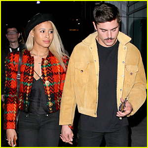 Zac Efron & Sami Miro Are Inseparable Couple at Lakers Game