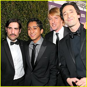 Adrien Brody & Owen Wilson Celebrate 'Grand Budapest' Win at Fox Golden Globes Party 2015