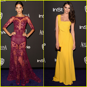 Alessandra Ambrosio & Emily Ratajkowski Bring Color to InStyle's Golden Globes After Party 2015!