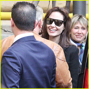 Angelina Jolie Arrives in Rome Ahead of Meeting Pope Francis