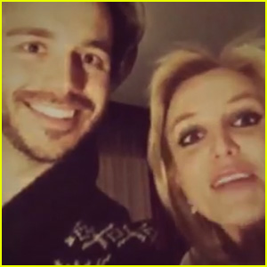 Britney Spears  & Boyfriend Charlie Ebersol Ring in 2015 with Hot Chocolate Instead of Champagne (Video)
