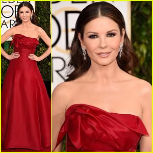 Catherine Zeta-Jones is Red Hot at Golden Globes 2015