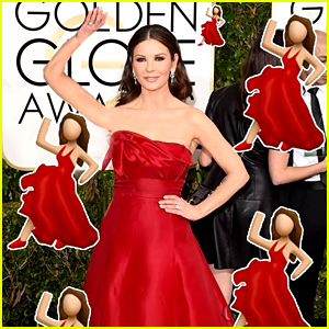 Catherine Zeta-Jones Is the Salsa Dancer Emoji at Golden Globes 2015!