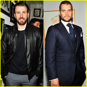 Chris Evans & Henry Cavill Bring Their Super Good Looks to W Mag's Pre-Golden Globes Party 2015