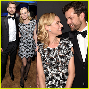 Diane Kruger Switches It Up at Golden Globes After Party 2015 with Joshua Jackson