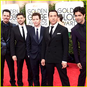 'Entourage' Cast Steps Out Together at Golden Globes 2015!