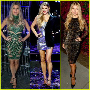 Fergie Dons Half-Suit Half-Dress for NYE Performance!