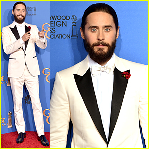 Jared Leto Honors Charlie Hebdo at Golden Globes 2015