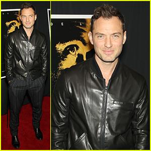 Jude Law Looks Sleek & Handsome at 'Black Sea' NYC Screening