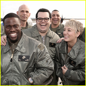 Kaley Cuoco Screens 'The Wedding Ringer' for the U.S. Troops!