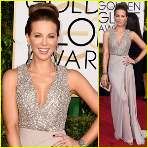 Kate Beckinsale Brightens Up the Golden Globes 2015 Red Carpet!