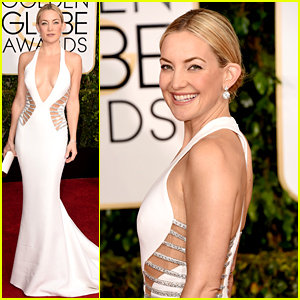 Kate Hudson Shows Tons of Skin at Golden Globes 2015