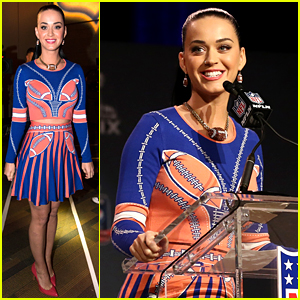 Katy Perry Makes a Joke at The Patriot's Expense During the Super Bowl Press Conference