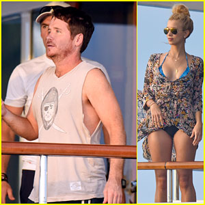 Kevin Connolly Parties with a Mystery Blonde in St. Barts