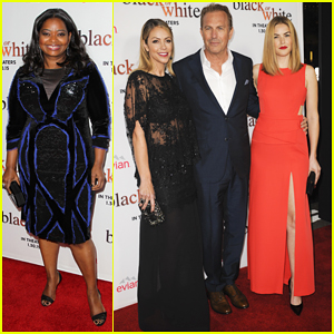 Kevin Costner & Family Join Octavia Spencer & 'Black or White' Cast at L.A. Premiere!