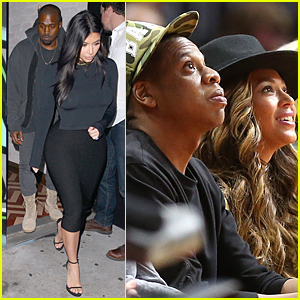 Kim Kardashian & Kanye West Have Double Date With Beyonce & Jay Z