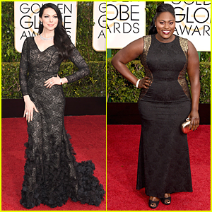 Laura Prepon & Danielle Brooks Show Black is the New Black on Golden Globes 2015 Red Carpet