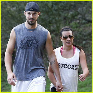Lea Michele & Matthew Paetz Hike & Hold Hands on Sunday!