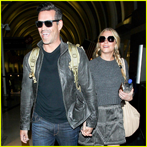 LeAnn Rimes & Eddie Cibrian Look Elated After Their Flight Home