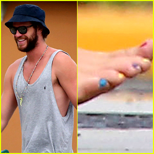 Liam Hemsworth Paints His Toenails the Colors of the Rainbow