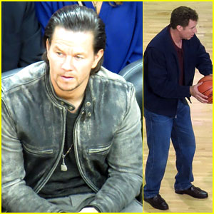Mark Wahlberg & Will Ferrell Film the Infamous Basketball Throwing Scene