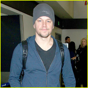 Matt Damon Gets Back to L.A. After Spending the Holidays Away